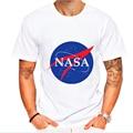NASA T-shirt Mens New Summer Printed Cotton Men Space t shirt Design Casual Fitness  Clothing Funny Tops Tees