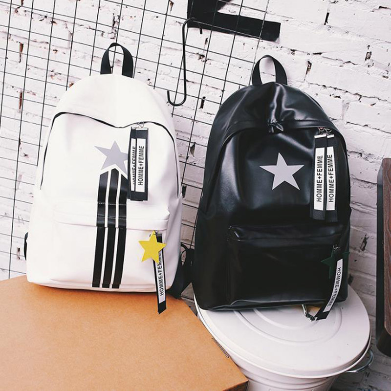 GLHGJP Fashion Women Men Backpack Star Printed Soft PU Leather School Bag For Teenagers Large Capacity BackPack Mochila BolsaGLHGJP Fashion Women Men Backpack Star Printed Soft PU Leather School Bag For Teenagers Large Capacity BackPack Mochila Bolsa