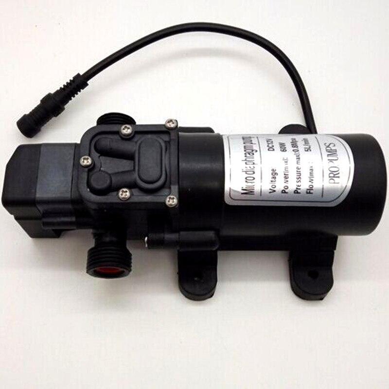 A260 Selbst pumpe DC 12 v wasser sprayer system mit 6 stücke nebel düsen und armaturen für garten DIY bewässerung nebel produkte-in Sprühgeräte aus Heim und Garten bei  Gruppe 3