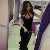 Seamyla New Black Bandage Dress Women Sexy Sleeveless Celebrity Mermaid Dresses Knee Length Club Vestidos Evening Party Dress