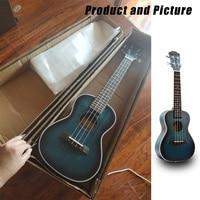 Mini Aquamarine color Concert Ukulele 4 AQUILA Strings Hawaiian Guitar Uku Acoustic Guitar 23 inch Ukelele mahogany Gift UK2329