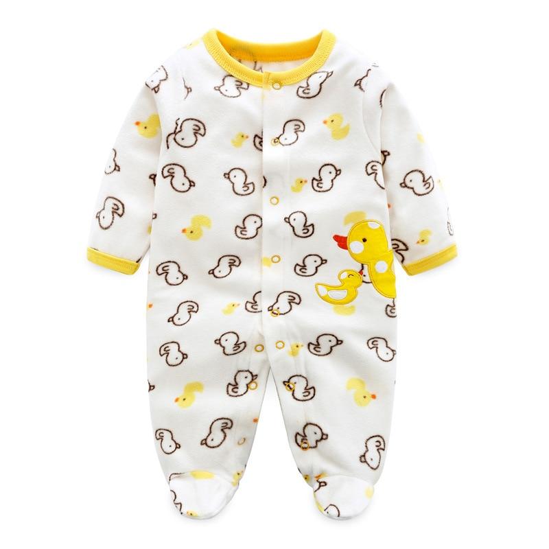 2019 nouveau-né hiver bébé barboteuses polaire bébé vêtements pour filles similaires bébé garçon filles barboteuse Roupa Infantil bébé vêtements