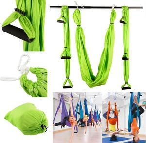 Image 1 - Balançoire de gymnastique de Yoga de Traction aérienne Anti gravité de trapèze dinversion de hamac de décompression de haute résistance accrochant 10 couleurs