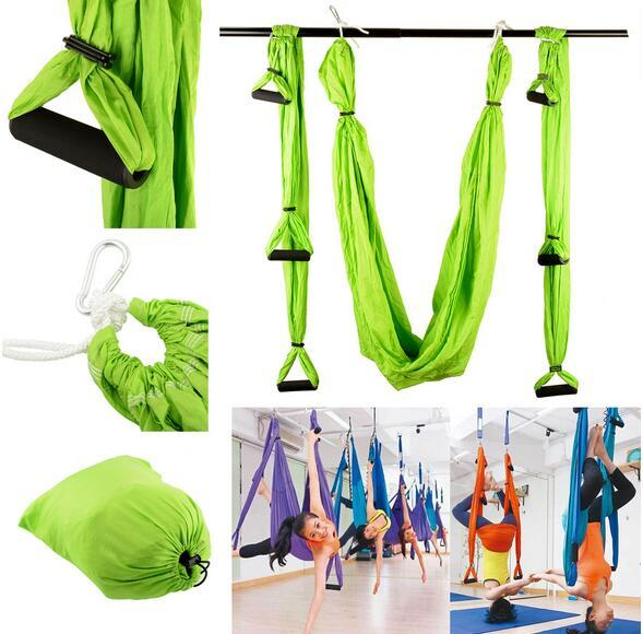 High Strength Decompression Hammock Inversion Trapeze Anti Gravity Aerial Traction Yoga Gym Swing Hanging 10 Colors