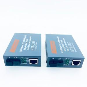 Image 3 - Convertidor de medios de fibra óptica HTB 3100, transceptor de fibra, convertidor de fibra individual de 25km SC 10/100M, 1 par