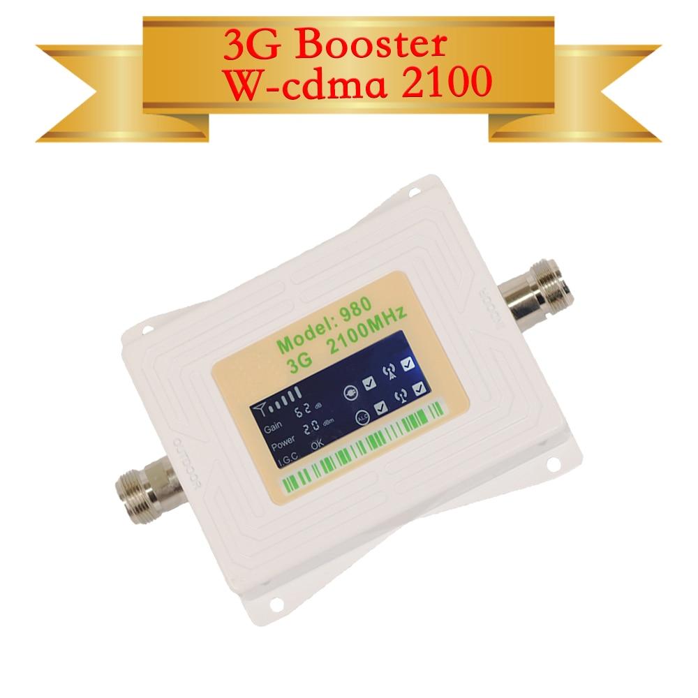 3G amplificateur de signal 3g répéteur 2100 amplificateur de signal de téléphone portable B1 UMTS 2100 MHz amplificateur cellulaire, nouveau mini écran lcd