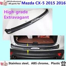 Externa del coche fuera de parachoques trasero del ajuste del acero inoxidable + plástico placa del desgaste del pedal * el lujoso * 1 unids para Mazda CX-5 2015 2016 CX5