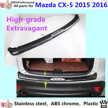 Car External outside Rear Bumper trim Stainless Steel+Plastic Scuff plate pedal *luxurious*1pcs for Mazda CX-5 CX5 2015 2016