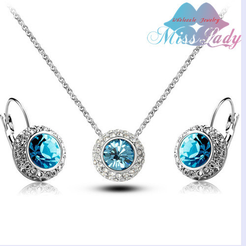 United States Moon River Moon River Crystal Jewelry Sets NECKLACE EARRINGS