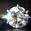 Классический Роскошный EDI 10CT Карат Настоящее Moissanit 14 К Белое Золото Лаборатория Grown Бриллиантовое Обручальное Обручальное Кольцо Для Женщин