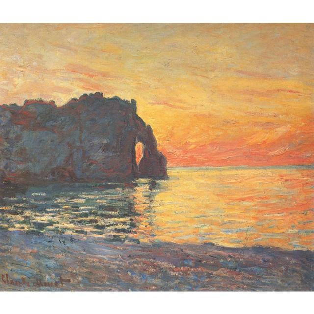 Claude Monet Paintings On Canvas Etretat Cliff Of D Aval Sunset Hand Painted Wall Art Decor