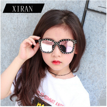 2018 Brand Kids Sunglasses 2018 Children  Girls  Sun Glasses Flowers Frame UV400 Mirror Eyewear