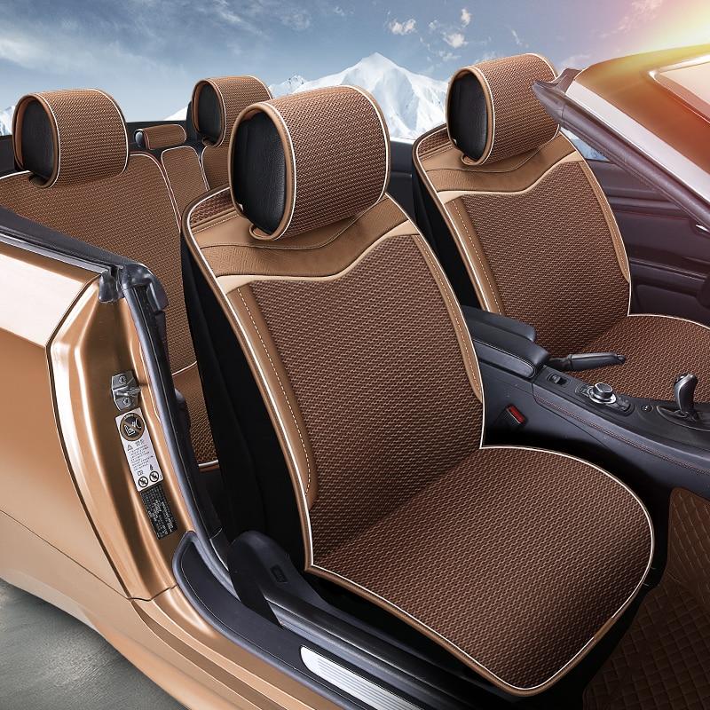Free Bundle Car Seat Cover Breathable Cool Car Cushions For Volkswagen Beetle CC Eos Golf Jetta Passat Tiguan Touareg Sharan