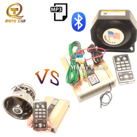 Беспроводной контроль автомобильный рожок Bluetooth MP3 динамик 200 Вт сигнализация Waring звуковая сирена полицейский Усилитель громкоговорителя м...