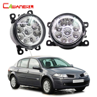 Cawanerl 2 Pieces Car LED Bulb Fog Light DRL Daytime Running Lamp 12V DC For Renault