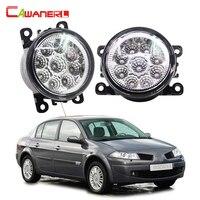 Cawanerl 2 Pieces Car LED Bulb Fog Light DRL Daytime Running Lamp 12V DC For Renault