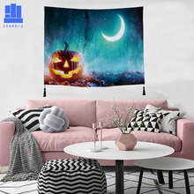 GNORRIS bedroom living room printing polyester tape tassel tapestry landscape pattern curtain tablecloth bed linen home decor