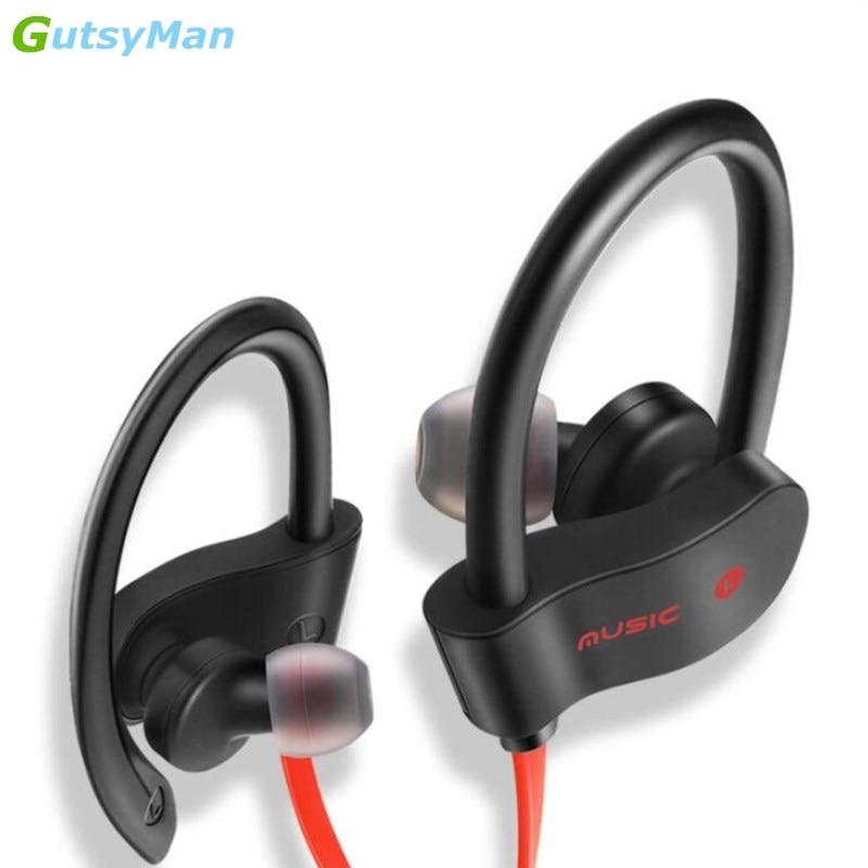 GutsyMan bluetooth headphones IPX7 waterproof wireless headphone sports bass bluetooth earphone with mic for phone iPhone xiaomi
