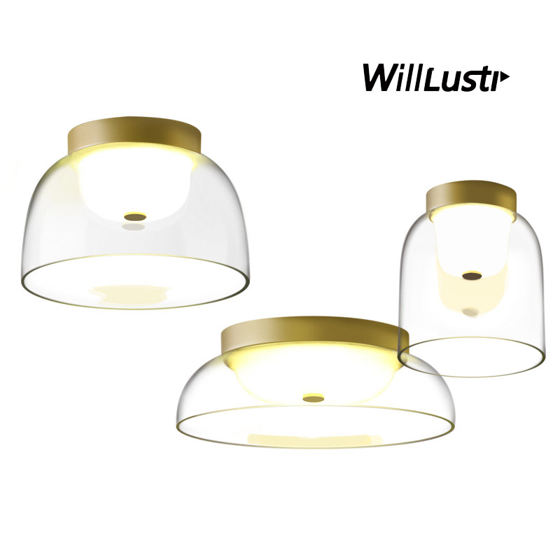 Creative LED Ceiling Lamp Mouth Blown Glass Lighting Dinning Room Living Room Hotel Bar Affordable Luxury Modern Design Light