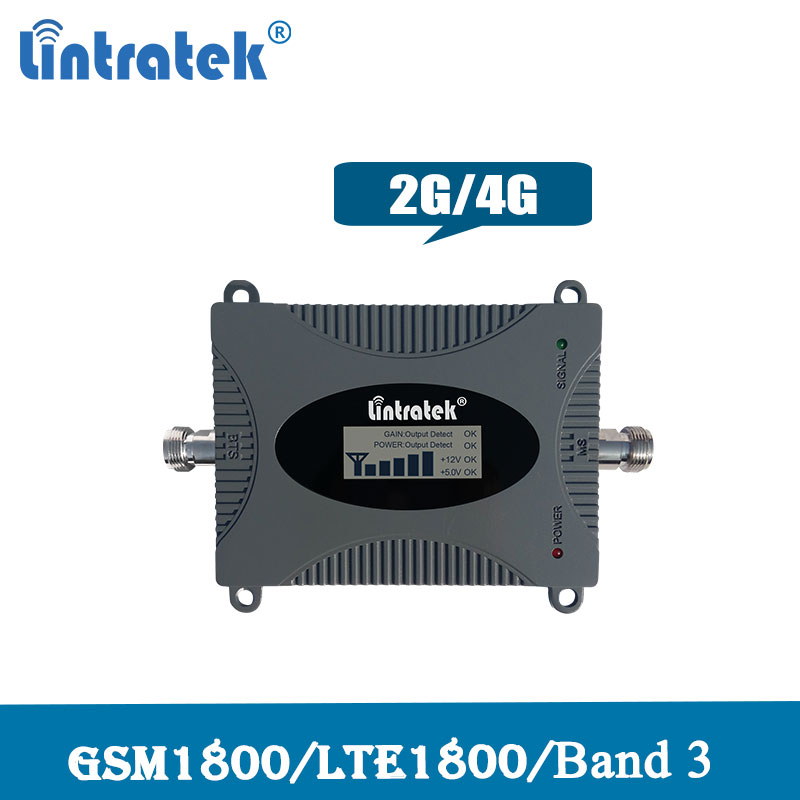 Lintratek 4G LTE / DCS 1800mhz Cellular Amplifier 2G GSM 1800 Signal Repeater LCD Display Moblie Phone Booster 4G Network 50
