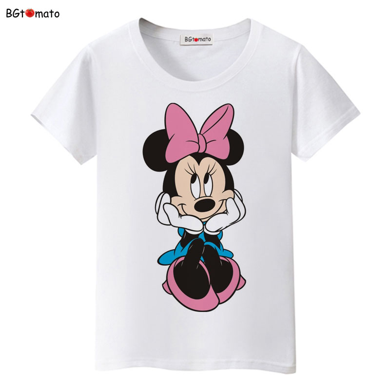 Bgtomato New Beautiful Women Mickey T Shirt Summer Super