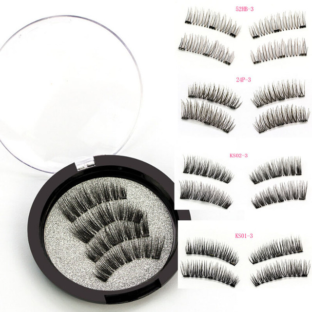 98b4d51d740 3 Magnetic Eyelashes Extension Natural False Eyelashes on magnets Reusable  3D Magnetic Fake Eye Lashes Makeup Soft Easy To Wear