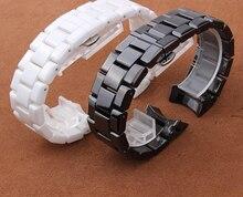 22 мм Ремешок Мужские Женские черный Керамический ремешок для часов браслеты Для Моды Алмаз Керамические Часы Высокого Качества Аксессуары
