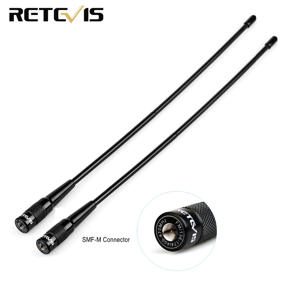 2pcs Retevis RHD-771 SMA-M Walkie Talkie Antenna Dual Band For Retevis RT3S RT3 DMR Walkie-talkies Ham Radio Transceiver C9030M