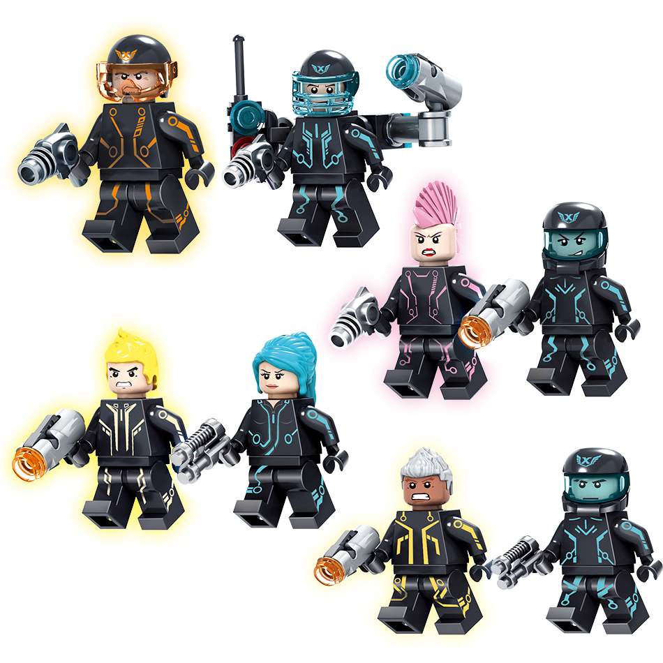 Kazi 4set/lot Future Police Series Building Block City War Action Figures With Chariot Super Heroes Educational Toy For Children sadat khattab usama abdul raouf and tsutomu kodaki bio ethanol for future from woody biomass