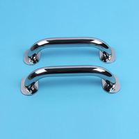 2 Pieces Polished Handrail 316 Stainless Steel Yacht Marine Hatch Grab Handle Door Handrail