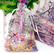 5ea170bc1 Huiran 50 piezas 7x9 cm bolsa del Organza del trullo cajas partido regalo  de boda del recuerdo joyería cumpleaños navidad Decora.
