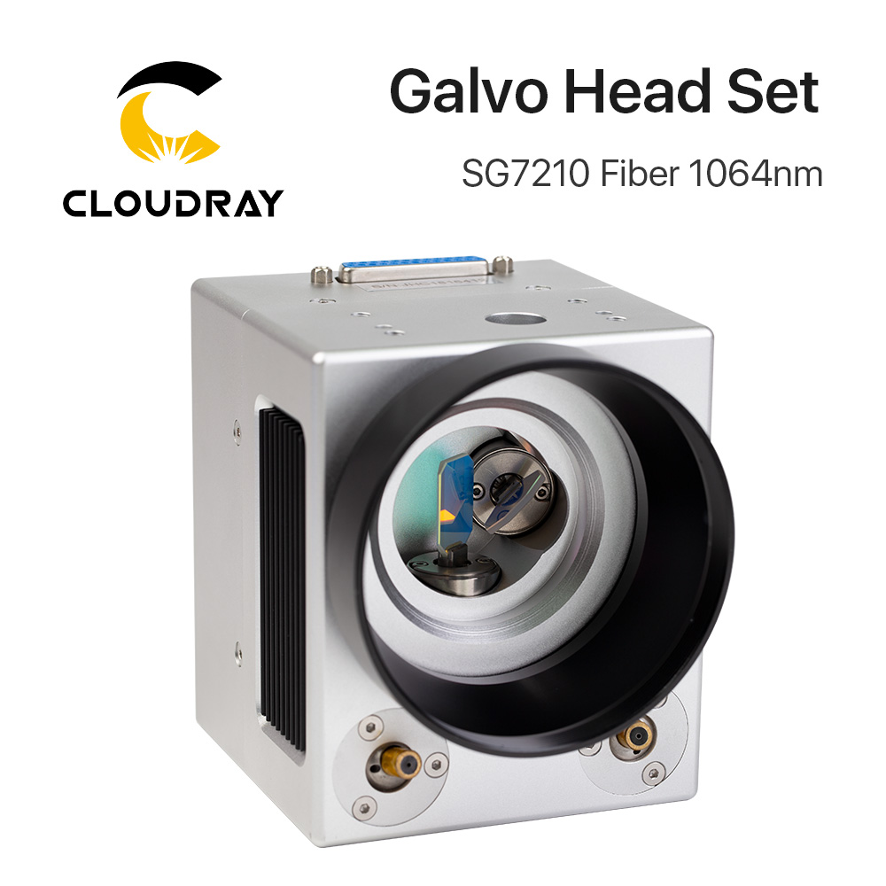 Cloudray 1064nm Fiber Laser Scanning Galvo Head SG7210 SG7210R Input Aperture10mm Galvanometer Scanner With Power Supply Set