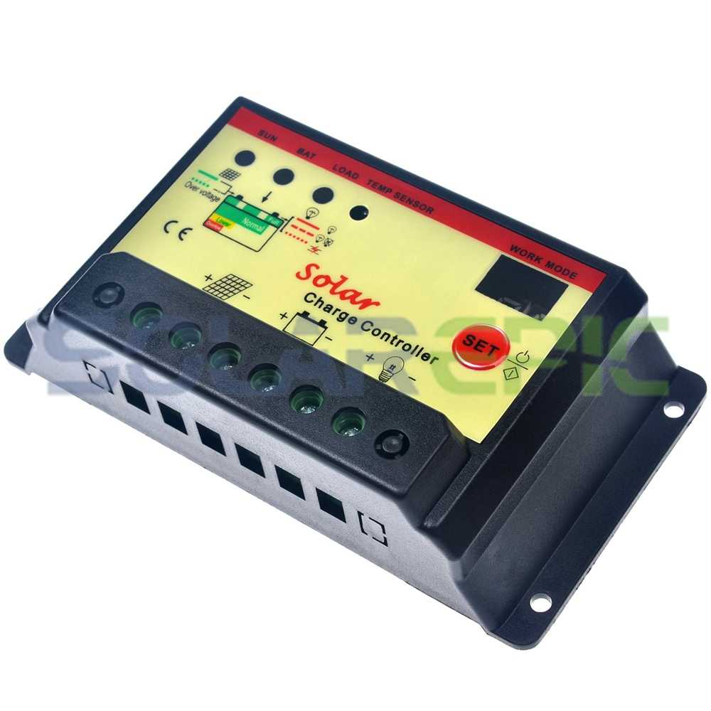 PWM 20A Solar Charge Controller 12V/24V Battery Regulator With Lighting & Timer Function Solar Controller Power Panel Regulator
