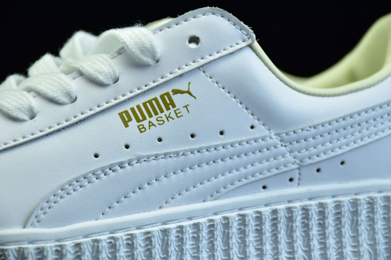 new styles 41aca cccae Original PUMA X RIHANNA Suede Cleated Creeper Women's Third Generation  Rihanna Classic Basket Tone Simple Badminton Shoes