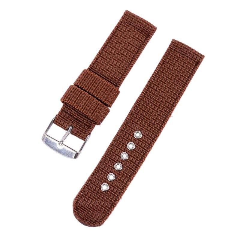 4 Farbe Militär Armee Uhrenarmband Nylon Stoff Canva Armbanduhr Band - Uhrenzubehör - Foto 2