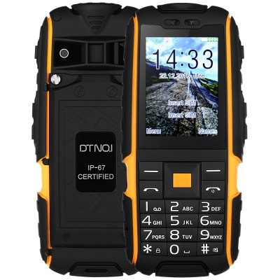 DTNO 1 A9 Quad Band Unlocked Phone 2 4 inch IP67 Waterproof Dustproof Shockproof FM Flashlight