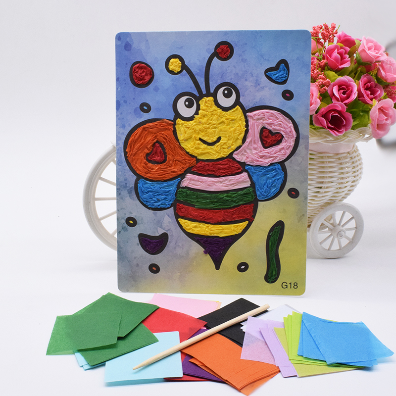 Crafts Toys Diy Bee For Children Kids Kindergarten Handicraft Material Felt Paper Animal Arts And Craft Gift For Baby Boy Girl