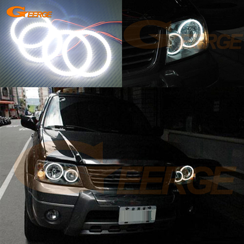 где купить For FORD ESCAPE 2005 2006 2007 Excellent led angel eyes Ultra bright illumination smd led Angel Eyes Halo Ring kit дешево