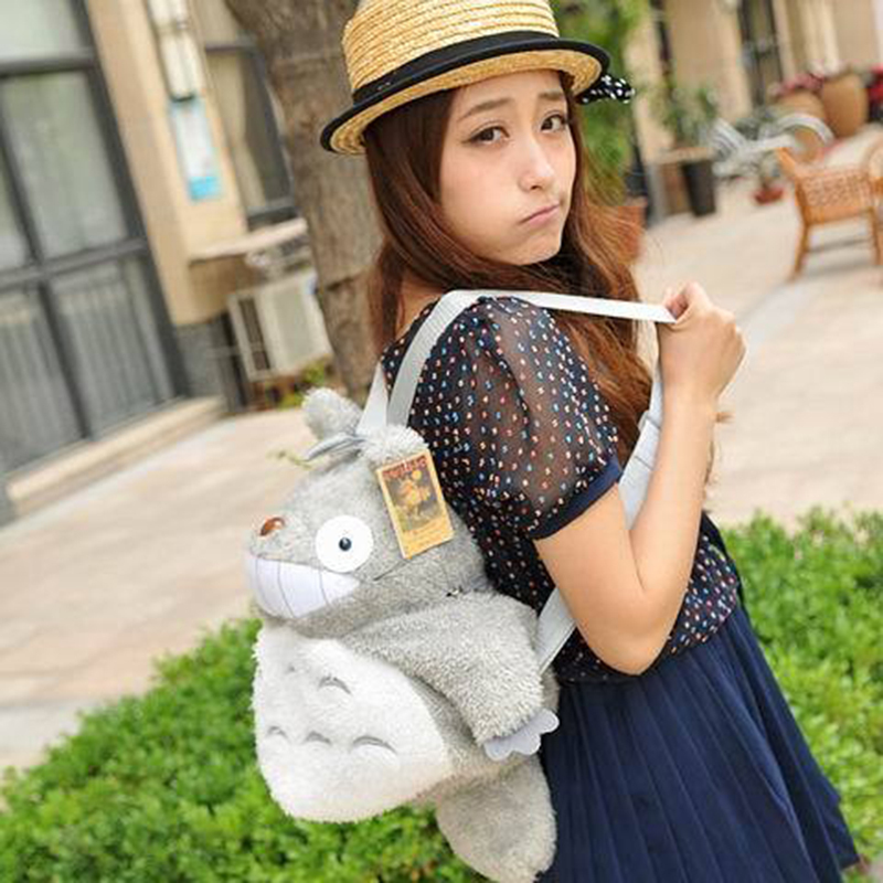 New year gift totoro series of totoro plush bags backpack S size 35*30cm, plush gift toy