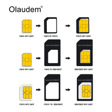 4 in 1 Nano SIM Card Adapters Micro SIM Adapters Standard SIM Card Adapter Eject Pin For iphone 4 4S 5 6 6S  All Phones SADT108