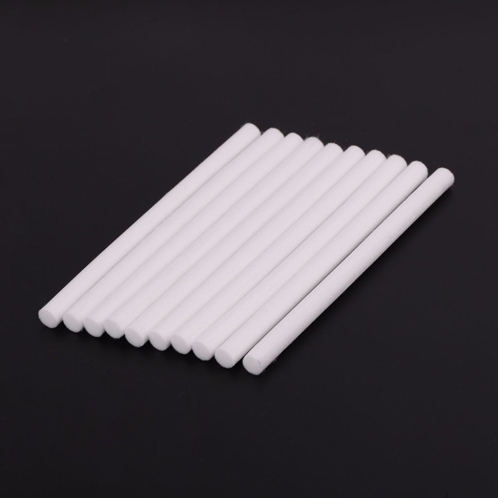 10Pcs Humidifiers Filters Cotton Swab For Air Aroma Diffuser Part 10mmx125mm New