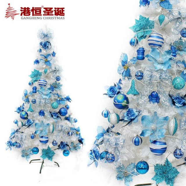 packages decorated christmas tree 12 21 miou style sapphire blue color white tree decorated