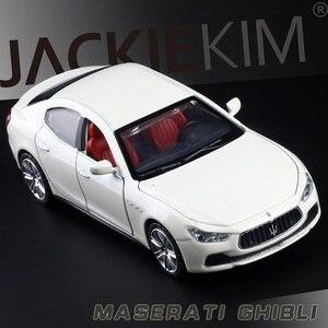 Image 2 - 높은 시뮬레이션 절묘한 다이 캐스트 및 장난감 차량: Caipo 자동차 스타일링 마세라티 지브리 1:32 소리와 빛으로 합금 자동차 모델