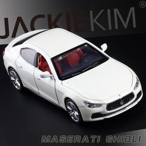 Image 2 - גבוהה סימולציה מעולה Diecasts & צעצוע כלי רכב: caipo רכב סטיילינג מזראטי Ghibli 1:32 סגסוגת רכב דגם עם צלילי אור