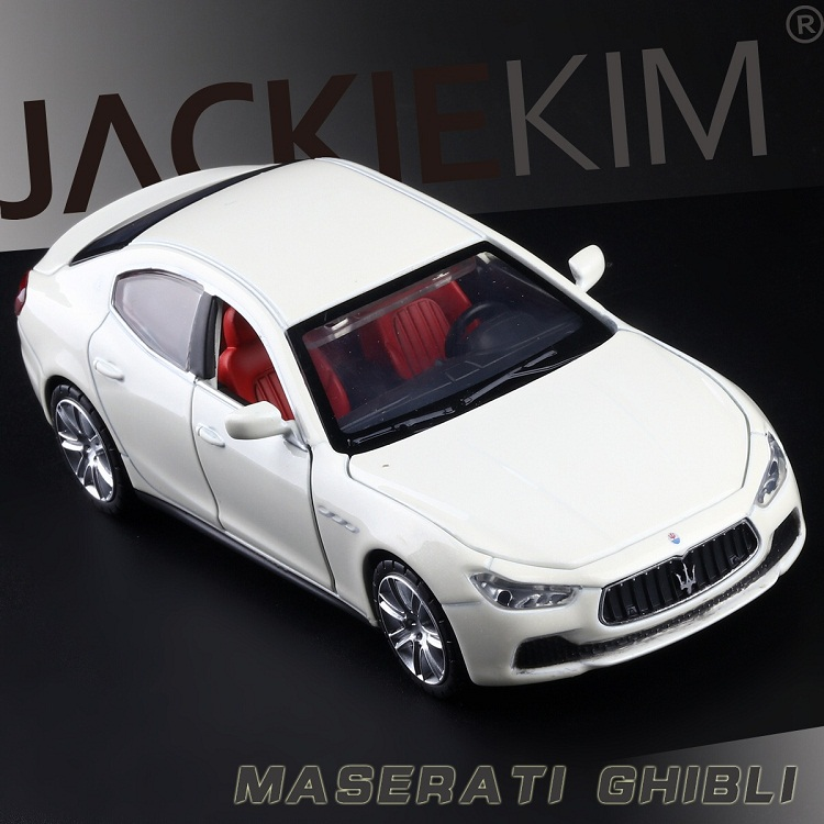 High Simulation Exquisite Collection Baby Toys: CaiPo Car Styling Maserati Ghibli Model 1:32 Alloy Car Model Best Gifts
