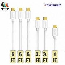 6 unids tronsmart mupp9 usb 2.0 chapado en oro micro usb cable macho para micro usb blanco 0.3 m * 1 1 m * 2 1.8 m * 3 premium 20awg cable cargador