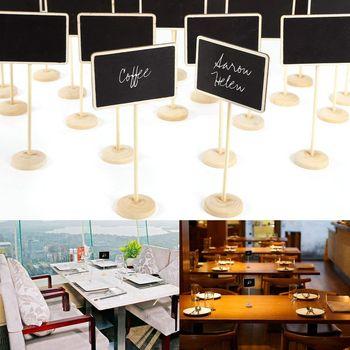 PCS mini blackboard gravável apagável 24 escrever mensagem número da tabela para o casamento restaurante café bar