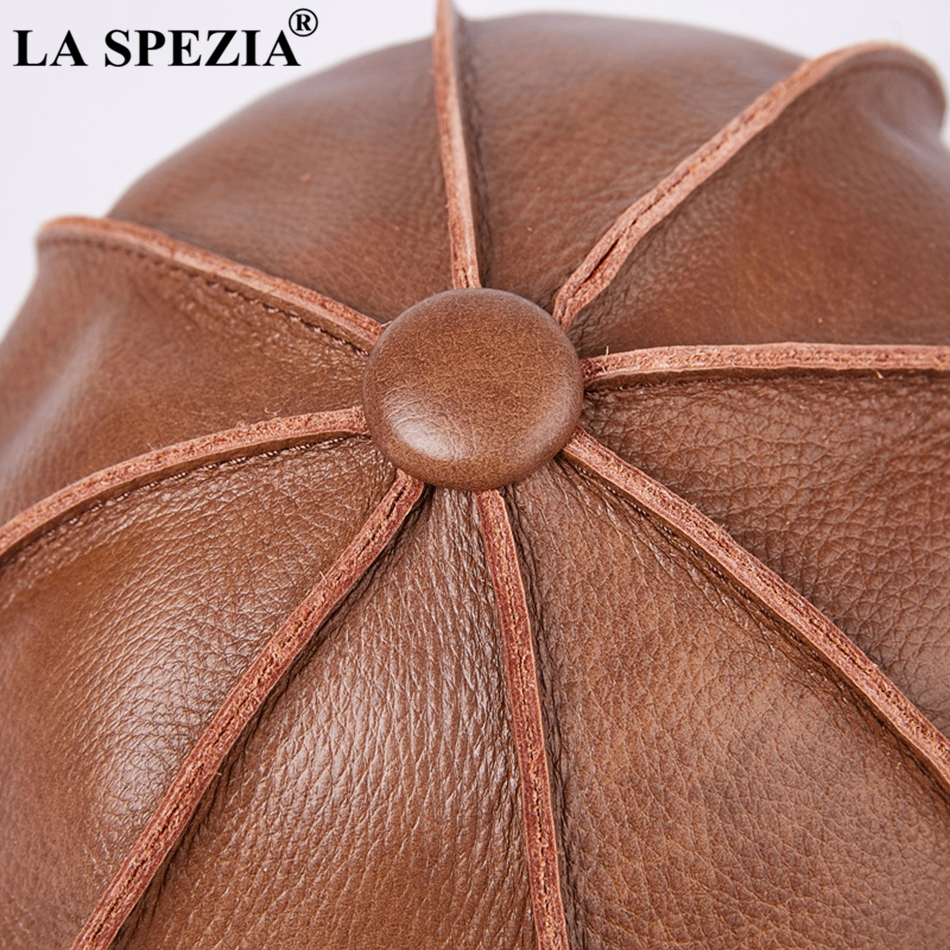 a475dec38ea Feature  Newsboy Caps   Casual Brown Cap Ivy Duckbill Hats   Luxury Brand  Artistic Flat Hats. LA SPEZIA Newsboys Beret Leather ...