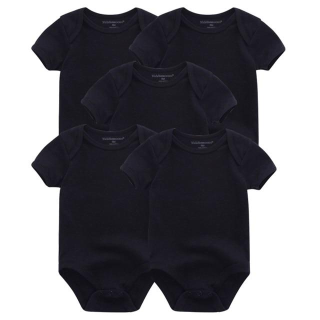 Kiddiezoom детские комбинезоны пижамы для маленьких девочек Дети Bebe Infantil одежда для новорожденных одежда из хлопка Одежда для маленьких мальчиков, Товары для детей - Цвет: black 5049