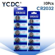 Популярно, 10 шт, CR2032 CR 2032 литий-ионный аккумулятор для батарейка кнопочного типа 3 в ячейки Батарея BR2032 DL2032 SB-T15 EA2032C ECR2032 L2032 большая акция